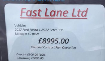 2017 Ford Fiesta 1.25 zetec 3 door full